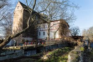 Die Mühle Arnshall. Das letzte noch stehende Bauwerk, das dem Mühlgraben seinen Namen gab